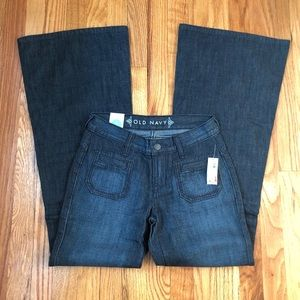 Old Navy Womens Mid Rise Flare Jeans Sz 0 Reg NWT
